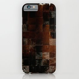 cowhide texture patchwork iPhone Case