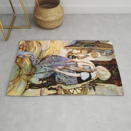 """The Millers Daughter"" by Anne Anderson Rug"
