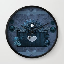 A touch of steampunk with elegant heart Wall Clock