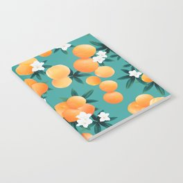 Orange Twist Flower Vibes #8 #tropical #fruit #decor #art #society6 Notebook