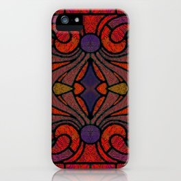 Art Nouveau Glowing Stained Glass Window Design iPhone Case