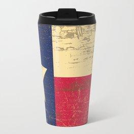 Distressed Texas State Flag Travel Mug