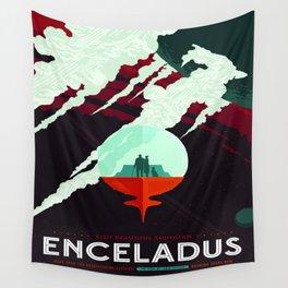 Vintage poster -Enceladus Wall Tapestry