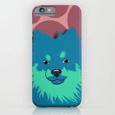 Olie the Pomeranian in Blue Slim Case iPhone 6s