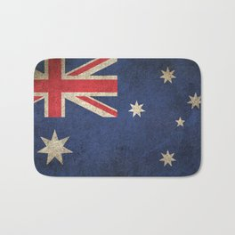 Old and Worn Distressed Vintage Flag of Australia Bath Mat