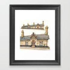 Almshouse, King Street, Cambridge, UK Framed Art Print
