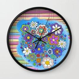 sarape y flore Wall Clock