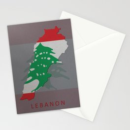 Lebanon, Outline, Map Stationery Cards