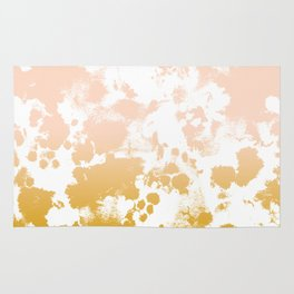 Essie - abstract minimal gold painting metallics home decor minimalist hipster Rug