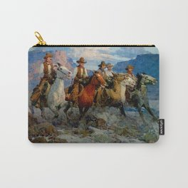 """Riders of the Dawn"" by Frank Tenney Johnson Carry-All Pouch"