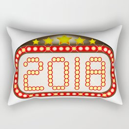 2018 Movie Theatre Marquee Rectangular Pillow