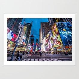 Time Square NYC Art Print