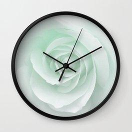 White Rose Minimalism | Mint Wall Clock