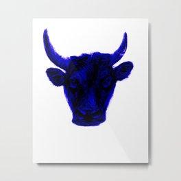 bull blue  Metal Print