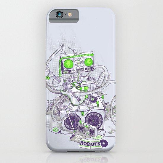 Hippy robot iPhone & iPod Case