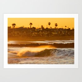 Sunrise Shorebreak Art Print
