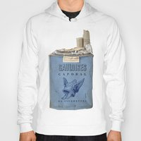 cigarettes Hoodies featuring Gauloises 20 Cigarettes France Vintage Pack 1968 by Premium