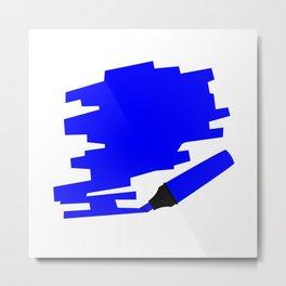 Dark Blue Marker Copy Space Metal Print