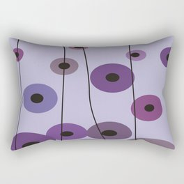 Contemporary Purple Circles Rectangular Pillow