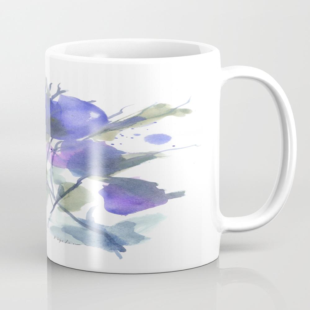 Bluest Blue Bloom Mug by Pamelagatens MUG8847182