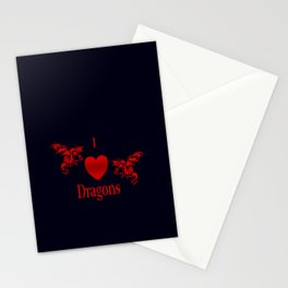 I Heart Dragons Stationery Cards
