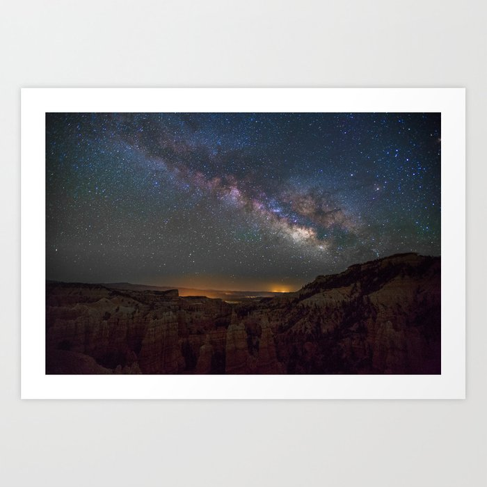 Fairyland Canyon Starry Night Photography Art Print