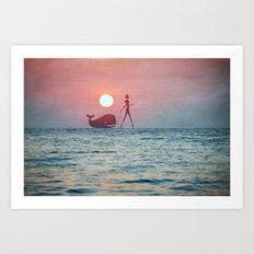 Whale Walk Art Print