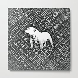 American Bully Word Art Metal Print
