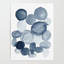 Pebbles Watercolor Abstract Poster