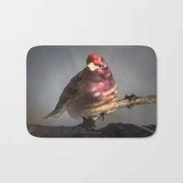 March Purple Finch Bath Mat