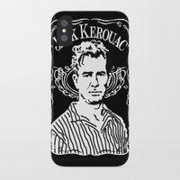 kerouac iPhone & iPod Cases featuring Jack Kerouac by Josep M. Maya