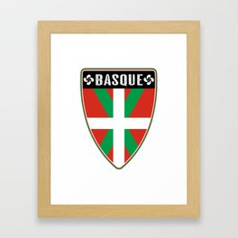 Basque Country Shield Framed Art Print