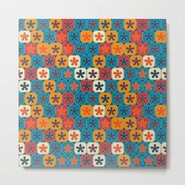 Blobs and tiles Metal Print