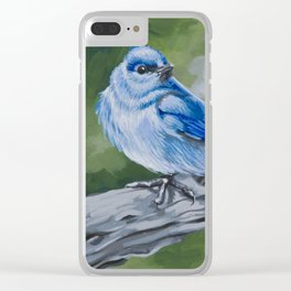 Mountain Bluebird Clear iPhone Case