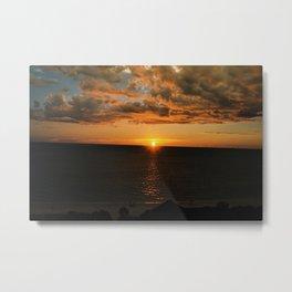 Sun on the skyline Metal Print