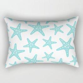 Sweet Starfish Pattern 235 Aqua Rectangular Pillow
