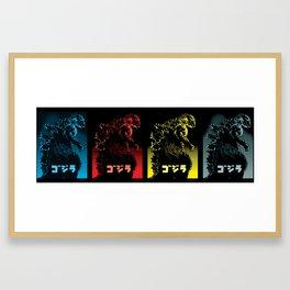 Godzilla 1954 Black Framed Art Print
