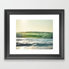 see through Framed Art Print
