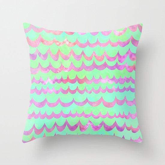 WAVES - Pastel Throw Pillow