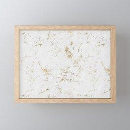 Marble Gold Mine Framed Mini Art Print