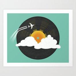 Sunburst Records Art Print
