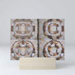Exotic Sandtones over Silver Mini Art Print