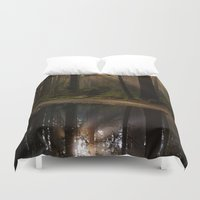 vancouver Duvet Covers featuring Vancouver Woods by Sierra Whiskey Bravo