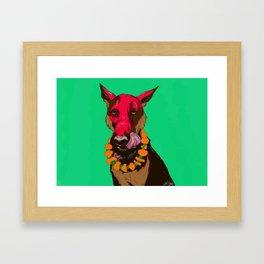 Dog Festival Framed Art Print