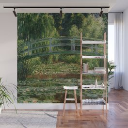 "Claude Monet ""The Japanese Footbridge and the Water Lily Pool, Giverny"" Wall Mural"