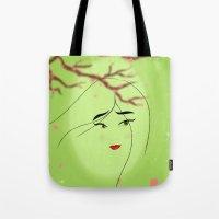 mulan Tote Bags featuring Mulan by Tiffany Taimoorazy