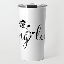feeling lovely | black floral Travel Mug