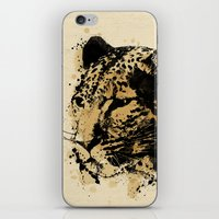 leopard iPhone & iPod Skins featuring Leopard by DIVIDUS