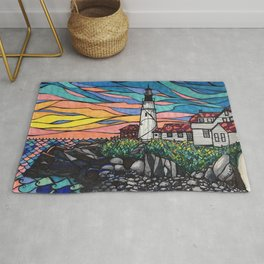 Portland Headlight Sky Rug