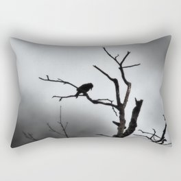 Solitary Crow Rectangular Pillow